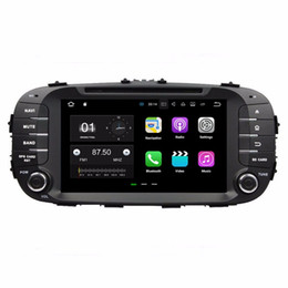 phone car charger android UK - 1024*600 Android 7.1 Quad Core Car radio dvd GPS Multimedia Player Car DVD for Kia Soul 2014 2015 2016 With Bluetooth WIFI Mirror-link