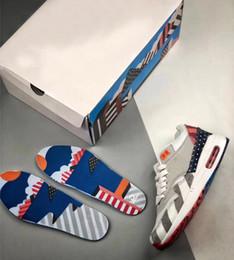 Corduroy Shoes Men Canada - Authentic Quality 2018 Top 97AirMax 1 Parra Sean Wotherspoon 1 97 VF SW Hybrid Men Running Shoes Corduroy Rainbow AT3057-100 Sneakers