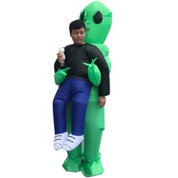 Wholesale costume woman mascot for sale – halloween Halloween Men Women Funny Cosply Costumes Kidnapped by Aliens Wrestler Male Female Party Mascot Costumes Inflatable Clothing