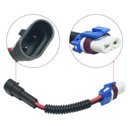 wire light socket 2019 - LEEWA 2PCS Car 9005 Headlights Bulb Light Connector Harness Wire Plug Extension Ceramic Socket #5460 cheap wire light so