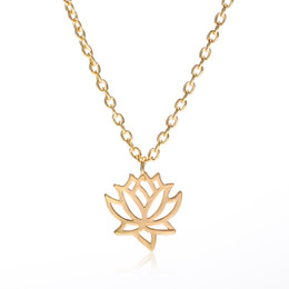 Happy days plates online shopping - Lotus Choker Necklace Silver Gold Plated Necklace Elegant Good Karma Happy Lotus Flower Pendant Necklace