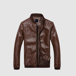 blue bikers jacket UK - Men Leather Jacket Classic Male PU Faux Thin Coats Motorcycle Riding Fur Coat Biker Jackets Mens Spring Autumn Clothes yuu543