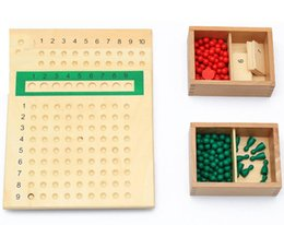 Teaching aids for year online shopping - Montessori Material Arithmatics Teaching Aids Educational Wooden Toys For Children Learning Multiplication and Division Bead Board