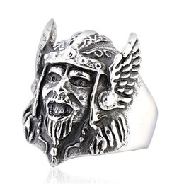 punk rings Australia - Finger Ring Men's Titanium Steel Viking Pirate Mask Men Ring Punk Jewelry Personality Fashion Party Rings For Men
