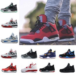 $enCountryForm.capitalKeyWord Australia - 4 4s Men Basketball Shoes Pure Money Black Cat Bred Oreo Fear Pack Royalty Toro Bravo Angry bull Military Blue White Athletic Sport Sneakers