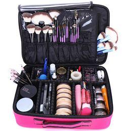 China Makeup Bag Organizer Professional Makeup Box Artist Larger Bag nail pattern semi-permanent tool box cosmetic case bags supplier nail pattern tool suppliers