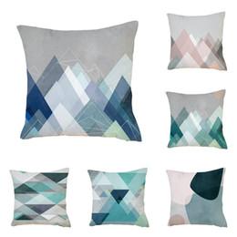 Geometric pillow case cover online shopping - Cotton Linen Throw Pillow Case Simple Abstract Geometric Man Woman Sofa Car Cushion Cover No Core Home Decor wj bb