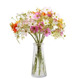Centerpieces Fake Flowers UK - liviing room decoration Coreopsis Daisy Artificial Flowers Fake Flower Plant Home Wedding Party Decor Anemone silk flower table centerpieces