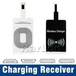 universal wireless charger receiver module 2020 - Universal Type C Qi Wireless Charging Receiver Film Patch Module Wireless Charger For Samsung iphone 7 6 plus Android Sm