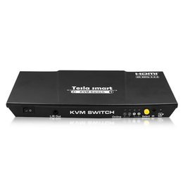 DHL бесплатная Доры Тесла умный интерфейс HDMI 2.0 и USB КВМ-переключатель HDMI-переключатель 2-портовый USB КВМ-переключателю HDMI 4К@60Гц доп. порт USB2.Порт 0