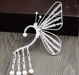 $enCountryForm.capitalKeyWord NZ - Butterfly earrings, crystal beads, handmade bride accessories, new female fairy ears, new style comb earrings.