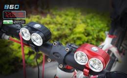 Faróis de bicicleta ultra-brilhantes faróis de bicicleta de montanha T6 faróis de carregamento USB equipamento de equitação noturna com suporte de liga de alumínio