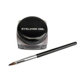 $enCountryForm.capitalKeyWord UK - Cosmetic Waterproof Eye Liner Pencil Make Up Black Liquid Eyeliner Shadow Gel Makeup + Brush Black 88 YF2017