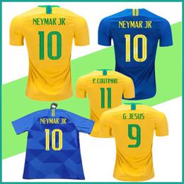 03b532d49 ... white jersey shirt 2d613 d28b8  coupon for discount a6fa5 1010a neymar  jr brasil jersey 2018 world cup yellow blue brazil soccer