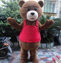 $enCountryForm.capitalKeyWord NZ - Fur Teddy Bear Mascot Costume Teddy Costume Adult Fancy Dress Clothing Halloween Party Suit Funny Animal Bear Costume