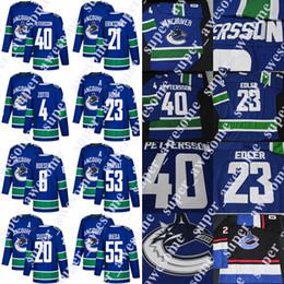 2d547e154 Vancouver Canucks Jersey Quinn Hughes Elias Pettersson Brock Boeser Bo  Horvat Alexander Edler Loui Eriksson Brandon Sutter Antoine Roussel