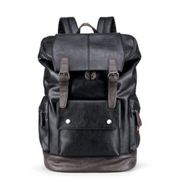China wholesale brand men's bags fashionable large capacity leather backpack retro color casual men backpack outdoor travel leather backpack supplier bucket bag men suppliers