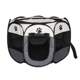 China Waterproof Scratch Resistance Pet Cage Foldable Washable Eight Horn Dog Barrier Enclosure Waterproof Block Wind Fence Easy To Clean 65hz2 Y cheap small pet tote suppliers