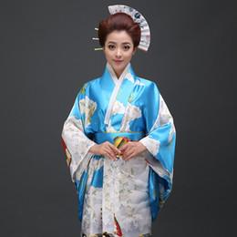 Japanese kimono geisha online shopping - 2018 summer black woman lady japanese tradition yukata kimono flower vintage evening dress cosplay costume geisha kimono