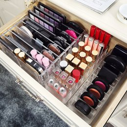 Discount sugar lipstick - 3 Size New Brush Lipstick Holder Makeup Organizer Clear Acrylic Cosmetic Makeup Tools Storage Box Case 2018