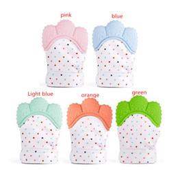 $enCountryForm.capitalKeyWord Canada - 5 Color Silicone Teether Baby Pacifier Glove Baby Teething Glove Newborn Nursing Mittens Teether Chewable Nursing Beads 200pcs MMA253