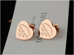EnamEl pEndant Earrings online shopping - Love Single Earring Necklaces Pendants Bracelets Rings Earrings Wedding Bands Charms Pearl Jewelry Come boxes