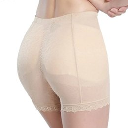 Chinese  New Lace Control Pant Mid Waist Abundant Fake Butt Pad Hip Short Pants New Breathable Anti Emptied Buttock Panties Skin   Black manufacturers