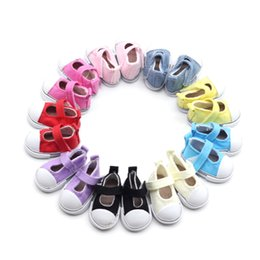 Shoes For American Girl Dolls Australia - 5cm Various Styles Of Canvas Shoes For 18 Inch American Girl Doll For Baby Gift, 43cm Baby Born Zap,Doll Accessories 8 Colors