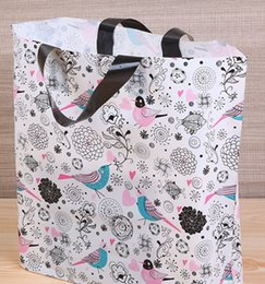 China New thick-top bird picture clothing bag gift shopping convenience bag wholesale 45 cm * 35 cm + bottom 10 cm suppliers