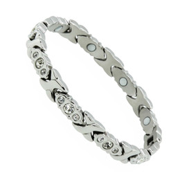 $enCountryForm.capitalKeyWord Australia - New Fashion 38 Health Care Magnetic Therapy Bracelet Stainless Steel Magnetic Bracelet Hologram Bracelets for Women