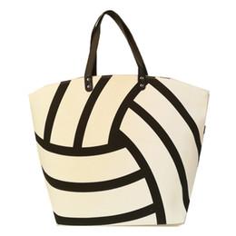 f696859386e6 Wholesale Blank Canvas Tote Bags Australia - Canvas Volleyball Tote  Wholesale Blanks White Volleyball Purse Large