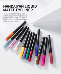 Simple makeup blue eyeS online shopping - 12pcs HANDAIYAN Matte Eyeliner Eyes Makeup Oogpotlood Waterproof Liner Pour Yeux White Blue Eye Liner Liquid for Party Mat Eyeshadow