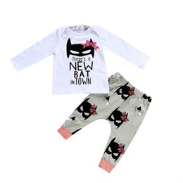 cute baby clothes wholesale UK - Autumn Cute Baby Girls Clothing Set Infant Summer Outfits Clothes Long Sleeve Top T-shirt +Pants 2pcs Set