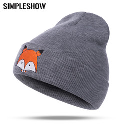$enCountryForm.capitalKeyWord Canada - New Fashion Women Winter Hats Fox Pattern Men Caps Girls Boys Skullies Beanies Warm Female Thick Knitted Male Unisex Soft Hat