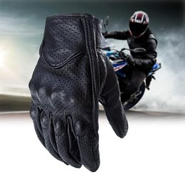 Full Finger Leather Motorcycle Gloves NZ - FLY5D Motorcycle Gloves Leather Full Finger Touch Screen Breathable Waterproof Cycling Glove Motorbike Racing Glove For Unisex