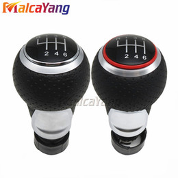 Chinese  Red & Silver Ring 6 Speed Gear Shift Knob General Gear Handball For Audi A4 S4 B8 S Line 07-15 manufacturers