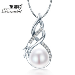 925 China Pearls Australia - Dainashi Amazing Price 925 Sterling Silver Jewelry High Quality Luster Natural Pearl Jewelry White Pink Pendant Gift Box S18101308