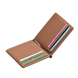 Magic wallets online shopping - 2018 New Fashion Men Leather magic Business Wallet Thin Purse Cards Holder Purses