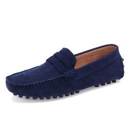 Летняя Мода Мужчины Повседневная Обувь Высокое Качество Мужчины Натуральная Кожа Обувь Люксовый Бренд Мужчины Лодка Обувь Скольжения На