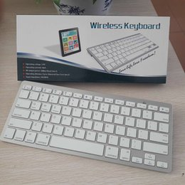New cellphone keyboards bluetooth V3.0 mini 78 keys portable ultr-thin wireless keyboard for smart cellphone ipad fit ios windows android on Sale
