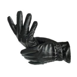 Leather Gloves For Men NZ - New Design Fashion Mens short gloves 2017 Winter Gloves leather For Men Cashmere#LRE0