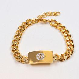 Mexican Link Chain NZ - Luxury Yellow Gold plated Cuba Chain link Identification CC Bracelet with CZ Diamond Women Mens Silver Bracelets