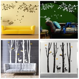 Chinese 3d Wall Stickers Australia - Wholesale 4 Designs Part of Forest Wall Stickers Wallpaper Paper Peint 3d Home Decor Bathroom Kitchen Accessories Household Suppllies