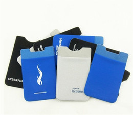 3m iphone NZ - 2 Color Custom microfiber lycra LOGO print phone bagpack phone wallet smart phone card case with 3M glue