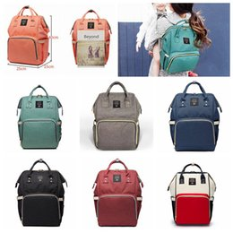 eco diaper bags NZ - 14 Colors Mummy Maternity Nappy Bag Large Capacity Baby Bag Travel Backpack Desiger Nursing Bag for Baby Care Diaper Bags 100pcs H02