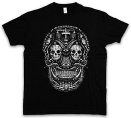 Wholesale MEXICAN SKULL I T SHIRT Gang Latino Mexico Sugar Latin Dias De Los Mens fashion Brand T Shirt O Neck cotton T Shirt