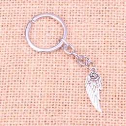 $enCountryForm.capitalKeyWord Canada - New Fashion 30*12mm angel wings flower KeyChain, New Fashion Handmade Metal Keychain Party Gift