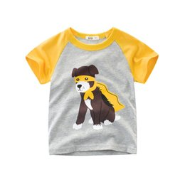 b941ff38d Wholesalers Children Clothing 2018 Summer Short Sleeved boys t shirts  Cartoon Dog Tops Tees 100% Cotton Printed shirts for boys 2-9 years