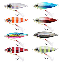 $enCountryForm.capitalKeyWord NZ - 80g 6 colors luminous slow jigging saltwater trolling lures big game metal lead fishing lures fall vertical jigs