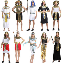 cosplay cleopatra 2019 - Halloween Costumes Boy Girl Ancient Egypt Egyptian Pharaoh Cleopatra Prince Princess Costume Kids Cosplay Clothing Party